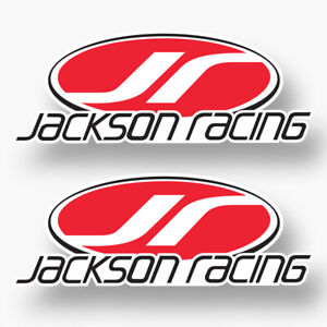 2x Jackson Racing Sticker Decal Vinyl Logo Car Truck Bumper Laptop Supercharge