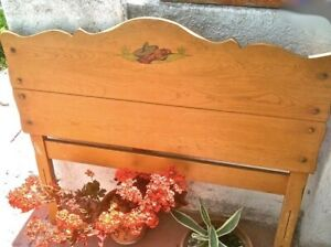 Authentic Vintage Monterey Branded Furniture Signed Twin Bed Headboard Footboard