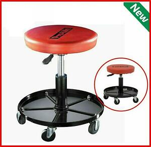 Mechanics Rolling Stool Work Shop Seat Chair Adjustable Roll Swivel Tool Garage