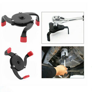 3 Jaws Universal Oil Filter Wrench Fully Adjustable Removal Tool Heavy Duty