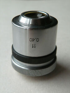 Lomo Objective 11x 0 40 For Universal Fedorov Stage Microscope Zeiss Leitz lwd