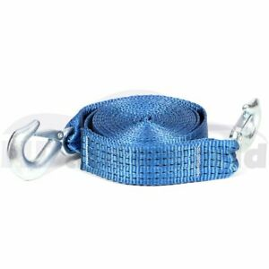 2 X20 Tow Strap With Loop Ends Hooks 13000lb Rescue Winch Sling