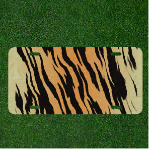 Custom Personalized License Plate Auto Tag With Tiger Cheetah Fur Design New