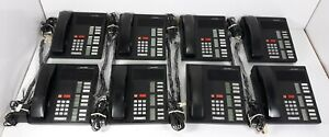 8 Meridian Nt4x35 Office Phones With Handset Cord Ac Adapter