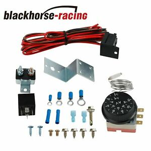 12v Adjustable Electric Radiator Fan Thermostat Control Relay Wire Harness Kit