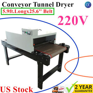 Us 220v Screen Printing Conveyor Tunnel Dryer 5 9ft long X 25 6 Belt T shirt