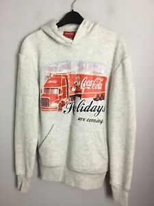 Coca Cola Christmas Truck Hoodie In Grey  Holidays Are Coming. VGC. UK XS