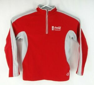 North End Coca-Cola Coke Freestyle 1/2 Zip Sweater Pullover Jacket Red Small (S)