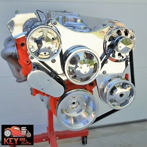 Small Block Chevy Polished Serpentine Kit Front Drive System Sbc 305 327 350 400