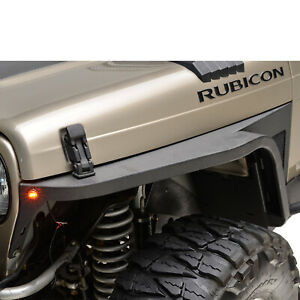 Paramount Front Fender Flare With Led Eagle Lights Fits 97 06 Jeep Wrangler Tj