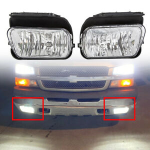 Bumper Fog Lights Lamps Pair Left Right For 2003 2006 Chevy Silverado Avalanche
