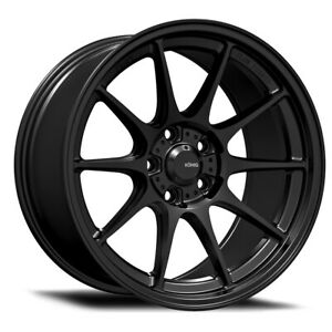Konig Dekagram Rim 18x9 5 5x100 Offset 35 Semi Matte Black Quantity Of 4
