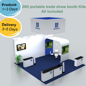 20ft Portable Custom Trade Show Display Booth Sets