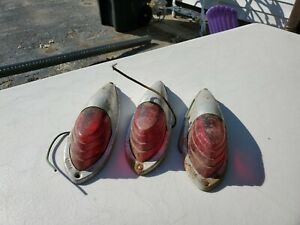 3 Vintage Grote 204 Clearance Marker Light Lamp Assembly A231