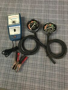 Vintage Rac Auto Test Equipment Dwell Tach Engine Vacuum Fuel Pump Testers