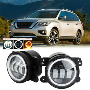 Led For Nissan Pathfinder 17 19 Clear Lens Pair Bumper Fog Light Oe Replacement