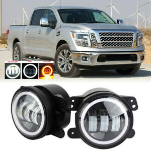 Led For Nissan Titan 16 19 Clear Lens Pair Bumper Fog Light Lamp Oe Replacement