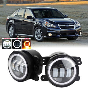 Led For Subaru Legacy 10 14 Clear Lens Pair Bumper Fog Light Lamp Oe Replacement