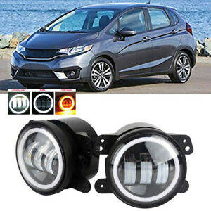 Led For Honda Fit 15 17 Clear Lens Pair Bumper Fog Light Lamp Oe Replacement