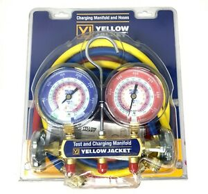 Yellow Jacket 42004 Refrigeration Manifold With 60 Hoses 404a 410a R 22