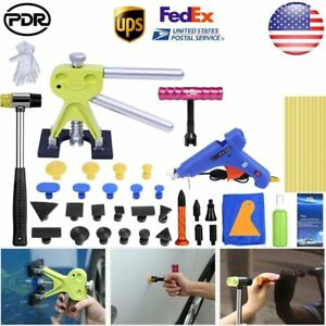 47 Pdr Tools Paintless Dent Repair Lifter Glue Kit Tap Down Hammer Hail Removal