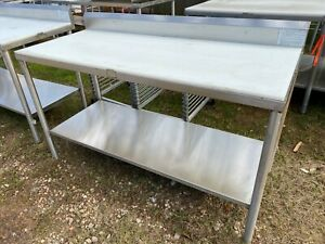 Load King 60 X 26 Heavy Duty Stainless Steel Food Polytop Meat Cutting Table