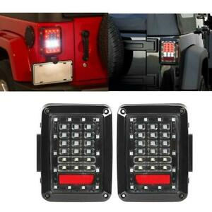 Led Tail Lights Brake Reverse Rear Turn Signal Lamp For Jeep Wrangler Jk 07 17
