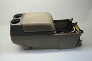 04 08 Ford F150 Floor Center Console Cupholder Armrest Tan Leather