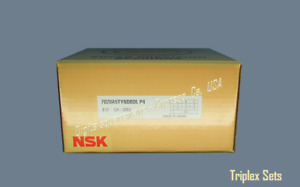 Nsk 7020a5tyndbdl P4 Abec 7 Super Precision Spindle Bearings Set Of Three