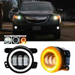 Led For Acura Rdx 10 15 Clear Lens Pair Bumper Fog Light Lamp Oe Replacement