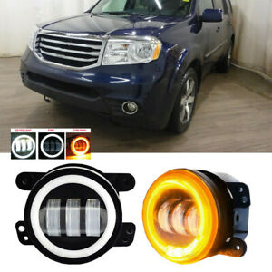Led For Honda Pilot 12 15 Clear Lens Pair Bumper Fog Light Lamp Oe Replacement