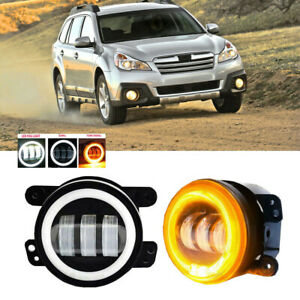Led For Subaru Outback 10 12 Clear Lens Pair Bumper Fog Light Lamp Replacement