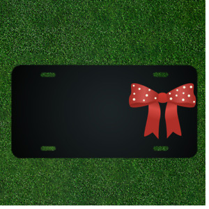 Custom Personalized License Plate With Add Names To Red Bow Tie Design New