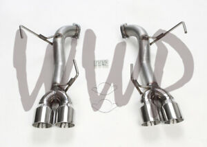 Stainless Ss Axle Back Exhaust Muffler Kit For 15 20 Subaru Wrx sti 2 5l