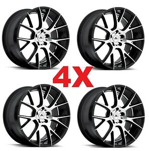 22 Custom Black Machined Wheels Rims Luxury Concave Forgiato Lexani Asanti