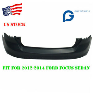 New Primered Rear Bumper Cover Fit For 2012 2014 Ford Focus Sedan
