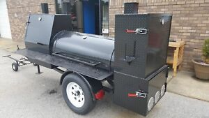 Night Hog Mini Hogzilla Mobile Bbq 24 Grill Barrel Smoker Trailer Food Truck