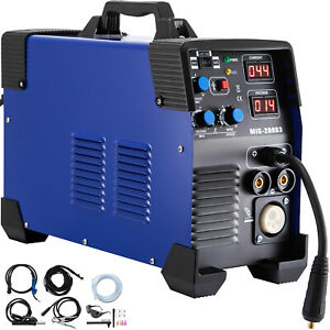 Mig 200 200 Amp Mig Lift Tig Stick Arc 3 in 1 Combo Inverter Welder 220v