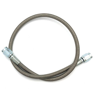 18 Braided Stainless Steel Brake Hose 3 An To 3 An Straight Ptfe Lined
