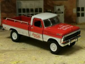 1969 69 Ford F-100 Pickup Coca-Cola Christmas Truck 1/64 Scale Limited Edit A75