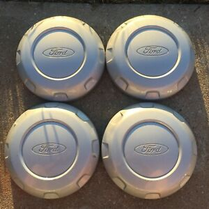 2004 14 Ford F 150 Expedition Oem 17 Steel Wheel Silver Center Caps Set Of Four