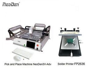On Sale Smt Pick And Place Machine Neoden3v adv Solder Printer Fp2636