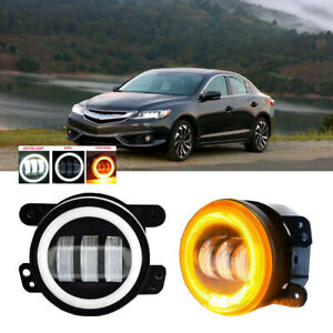 Led For Acura Ilx 13 15 Clear Lens Pair Bumper Fog Light Lamp Oe Replacement