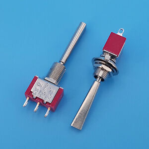 2pcs T8014 u2 Long Flat Lever On off on 3 Position Spdt Mini Toggle Switch