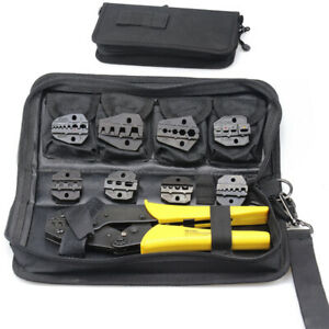 Steel Ratchet Crimper Plier Crimping Tool Cable Wire Electrical Terminals Kit