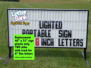 40 X 72 V3 Face Panels W track For Portable Roadside Readerboard Marquee Signs