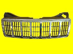 Chrome black Grille For Jeep Grand Cherokee 2005 2006 2007 55156814ae Ch1200284