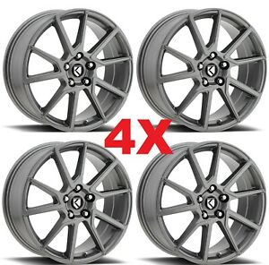 18 Gunmetal Graphite Wheels Rims