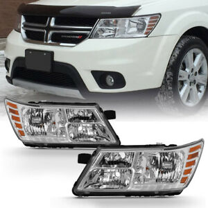 For 09 18 Dodge Journey Headlight Black Bezel Replacement L R Head Signal Lamp