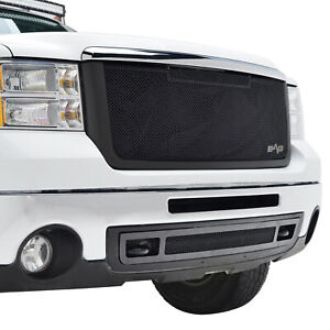 Fits 2007 2010 Gmc Sierra 2500 3500 Grille Black Stainless Steel Replacement